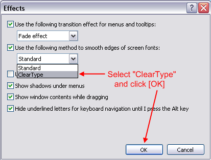 ClearType in Windows XP | Polymath Programmer