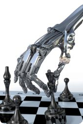 Robot playing chess