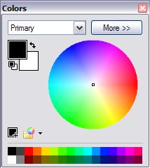 Primary and secondary colour selection