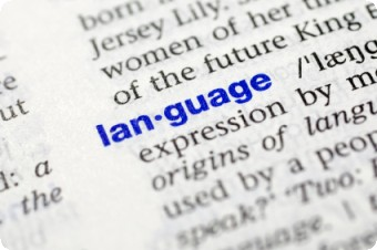 Language in dictionary by Christian Grass @iStockphoto