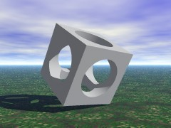 CSG cube without cylinders
