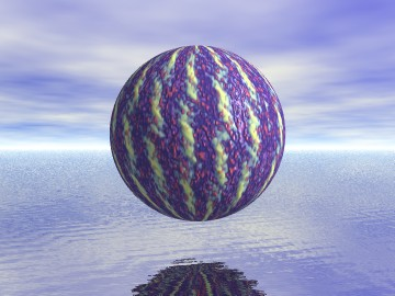 Sphere above water
