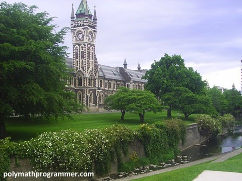 Behind University of Otago