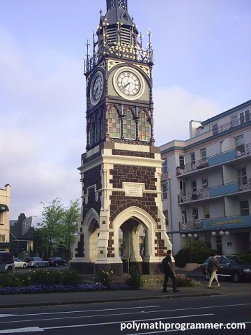 Christchurch clock