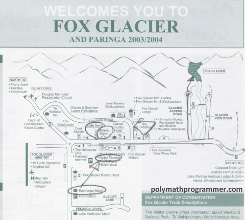 Fox Glacier town map