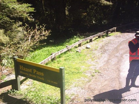 Haast Pass sign