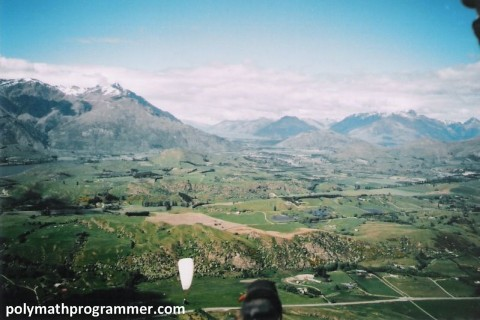 During paragliding