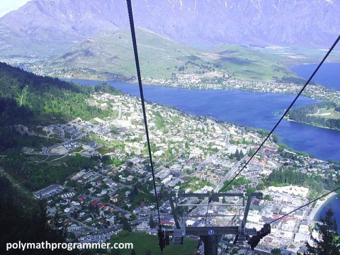 View from inside gondola