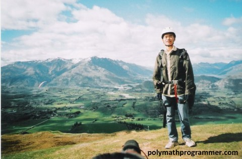 Vincent at Coronet Peak
