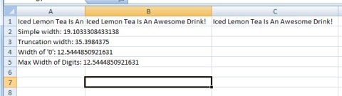 Excel Open XML calculate column widths