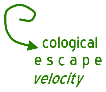 Ecological escape velocity