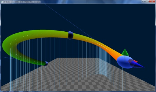 Bezier curve editor with axes