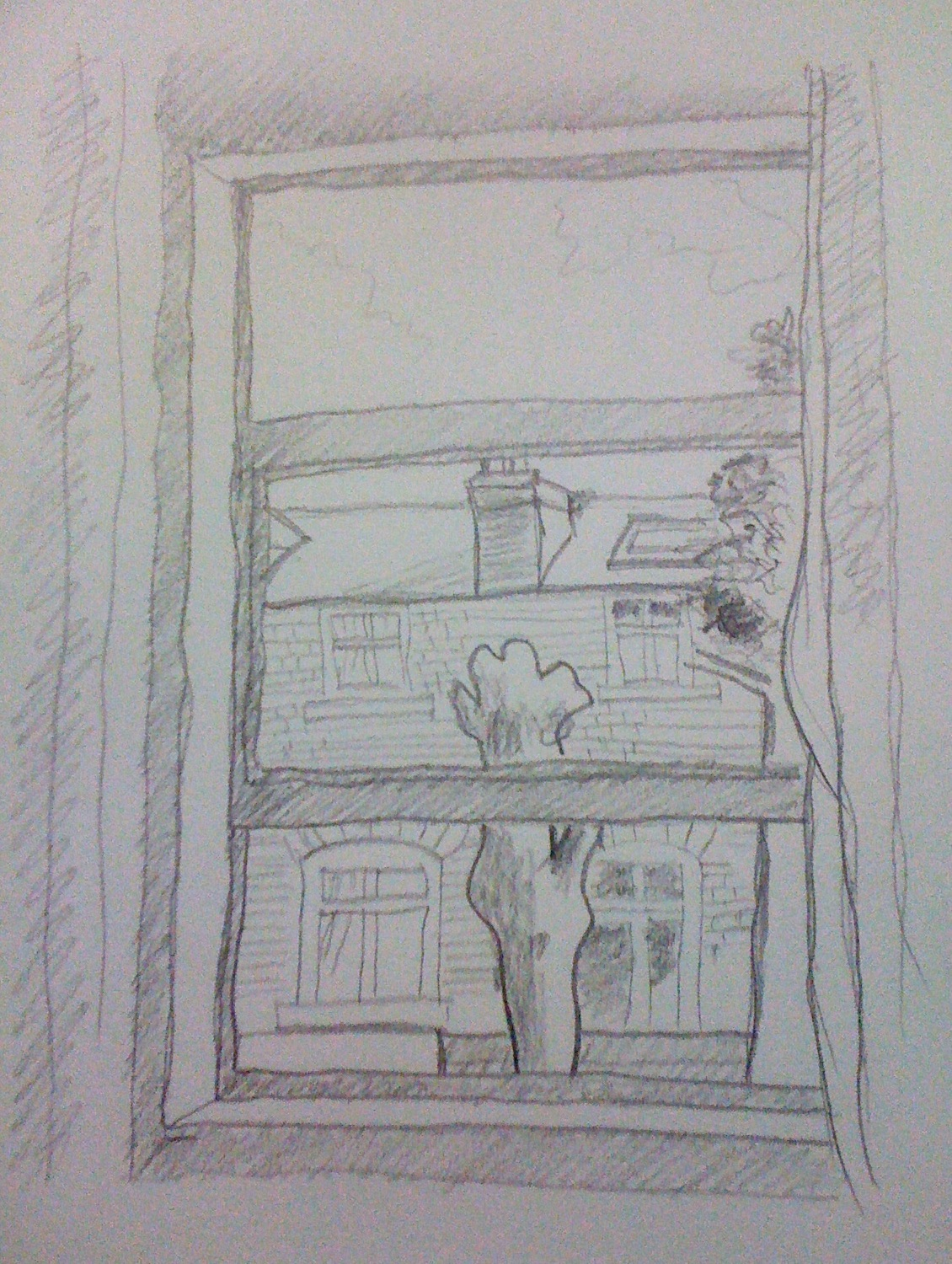 View Through A Window Drawing Images