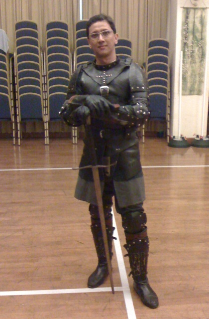 Greg in full armour
