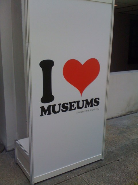 I Love Museums sign