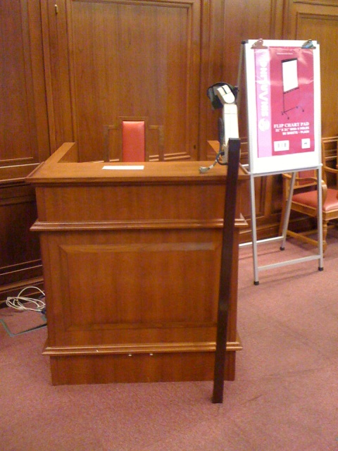 Court podium