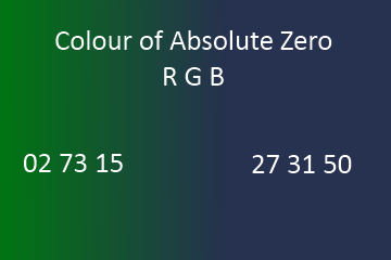 Colour of Absolute Zero