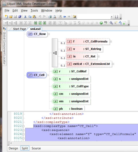 XML Studio Schema View