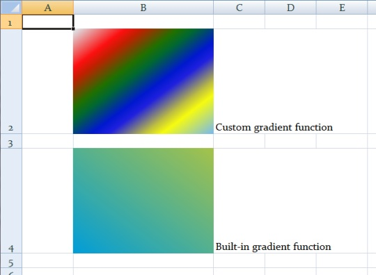 Gradient fills in SpreadsheetLight