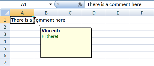 Excel Open XML Comments
