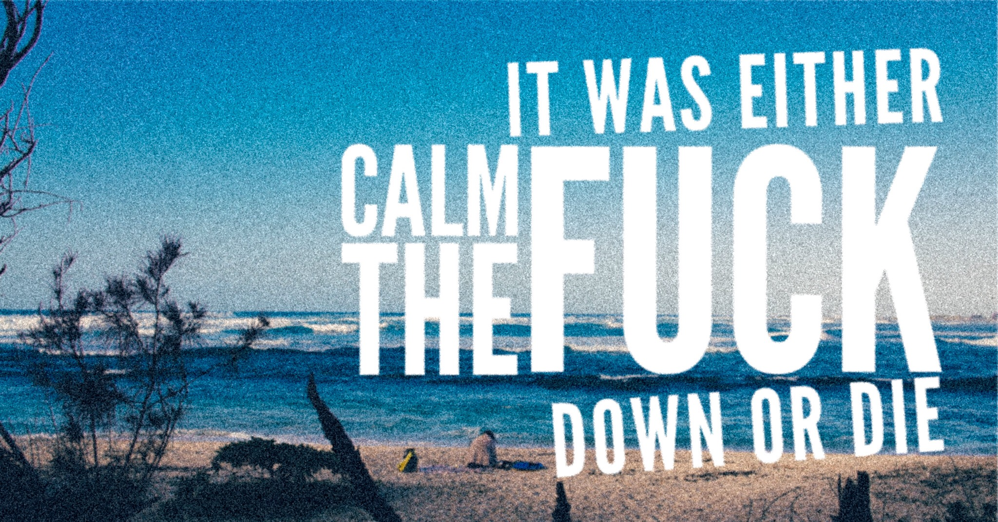 I had to calm the f*ck down